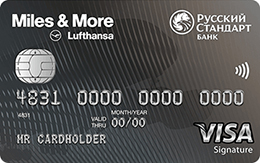 Кредитная карта Русский Стандарт «Miles & More Visa Signature»
